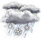 Weather Icon: Rain And Snow